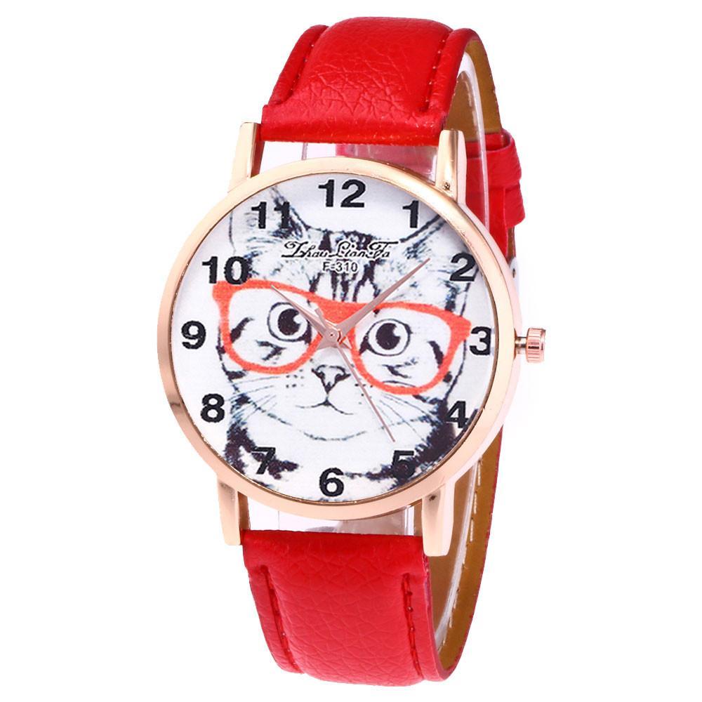 387458c4a Compre Moderno Reloj De Cuarzo De Moda Correa De Cuero De Malla De Cuarzo  Analógico Reloj Redondo Reloj De Pulsera Casual De Regalo Para Mujer  Feminino ...