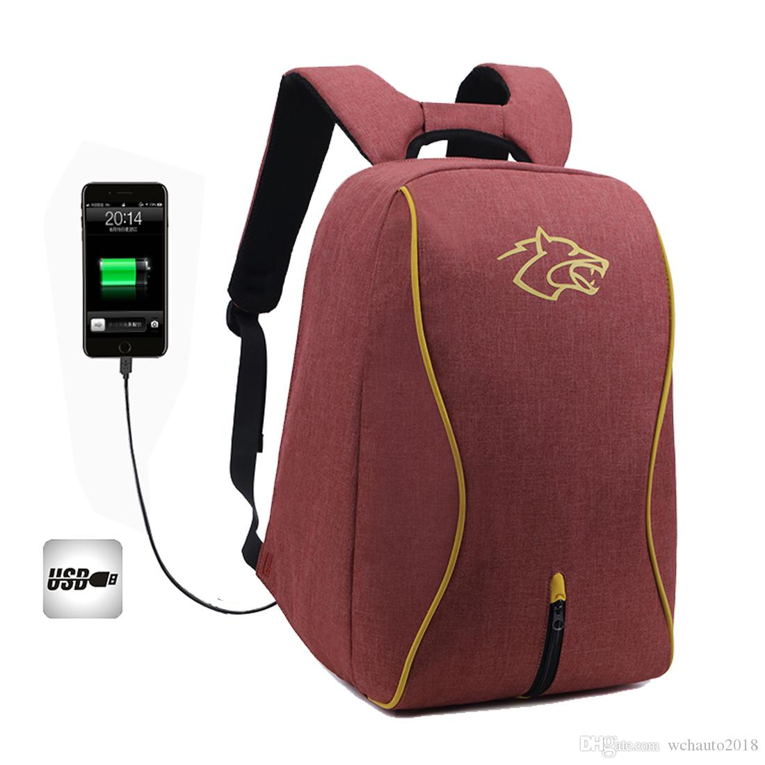 327aa07bf Travel Laptop Backpack With USB Port FLR Waterproof Anti Theft Large  Capacity Shoulder Bag Daypack For Outdoor Sports Womens Backpacks Pink  Backpacks From ...