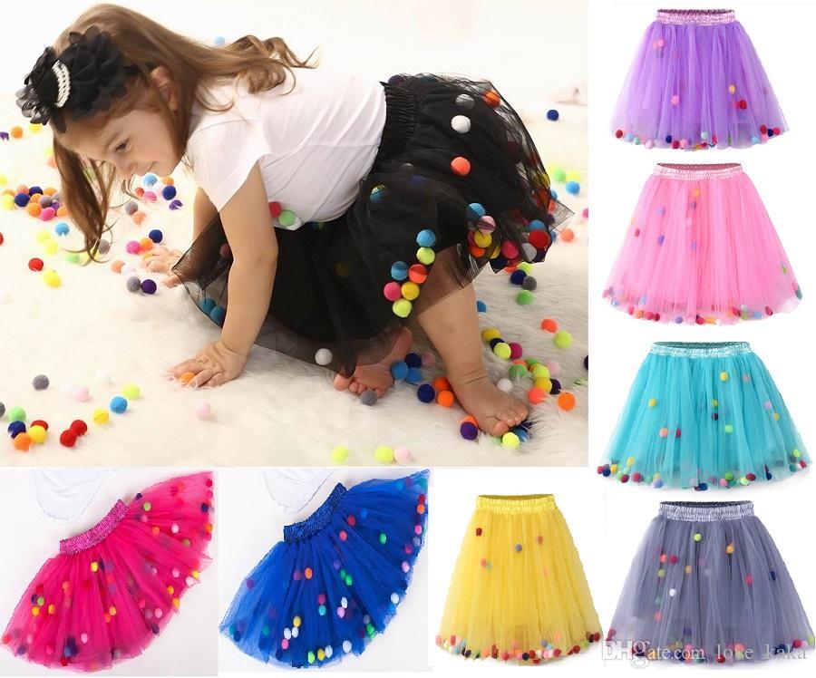 e226cceb43ea 2019 Kid Girl S Rainbow Ball Tutu Skirts New Newborn Lace Princess ...