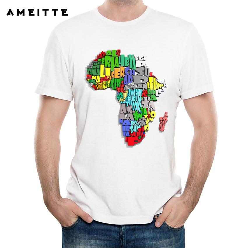 38968f4fcdd2 2018 Ameitte Creative 3d Africa Map T Shirt Men S Hipster White Printed  Short Sleeve Tee Shirts Summer Popular Streetwear Tops Ringer T Shirts  Political T ...