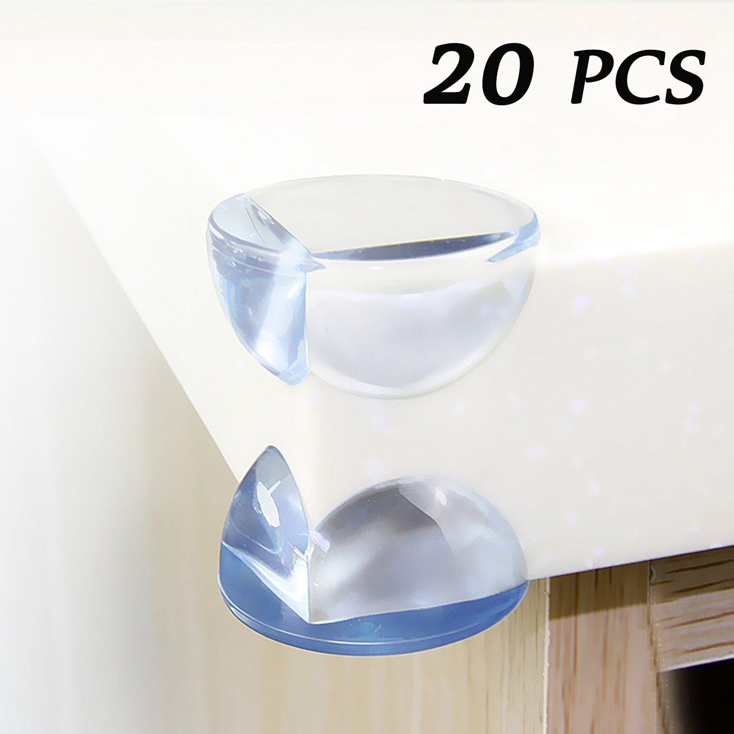 Safety Corner Protectors for Kids (20 PCS),  Quality Clear Soft Large Table Edge Bumper Guards for Child Baby Proofing