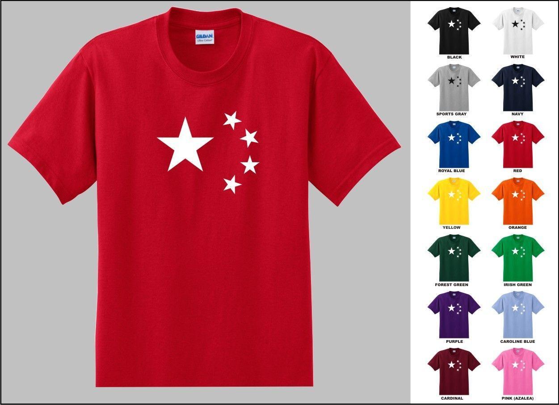 fecddbee Five Stars Republic Of China Flag Symbol T Shirt 2018 Short Sleeve T Shirt  Men Fashion Brand Design 100% Cotton Male Quality Graphic T Shirts Custom  Shirt ...