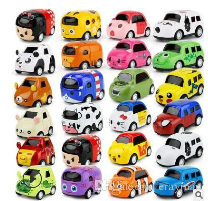 2019 Kids Alloy Toy Bus Car Pull Back Mold Mini Cartoon Car Models