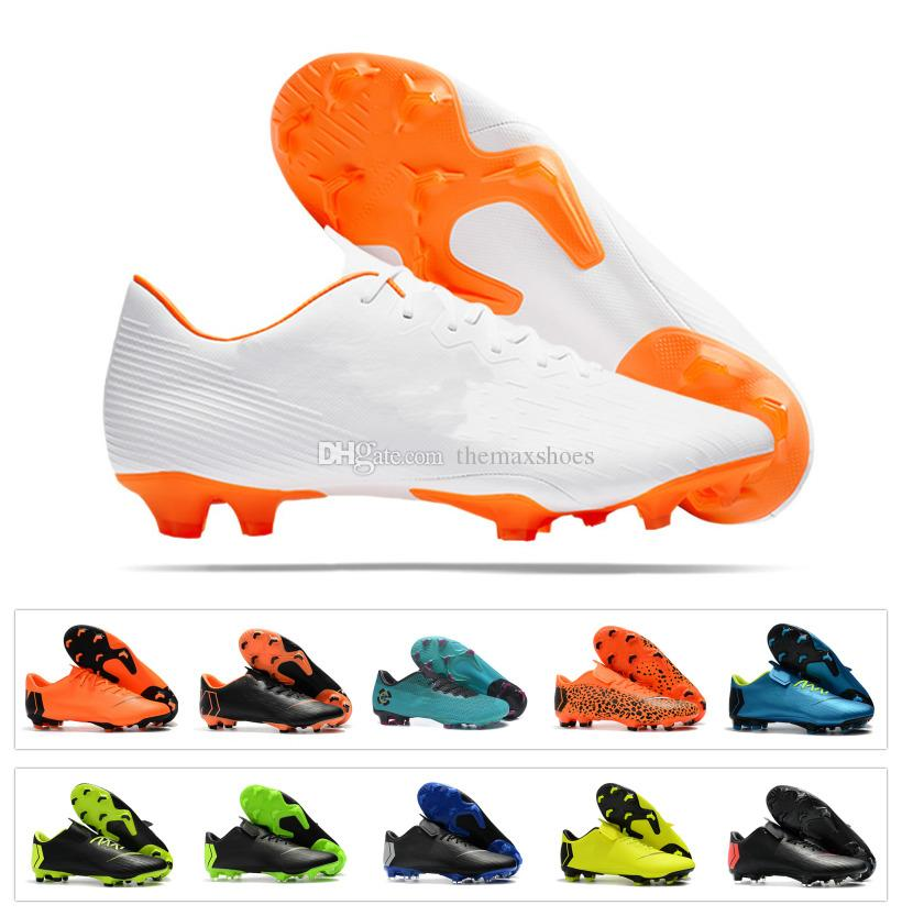 2018 New Mens Mercurial Vapor XII 12 Elite Superfly 360 FG CR7 Soccer Low Ronaldo Top Quality Women Kids Football Shoes White Metallic authentic cheap online 61ylJPqX