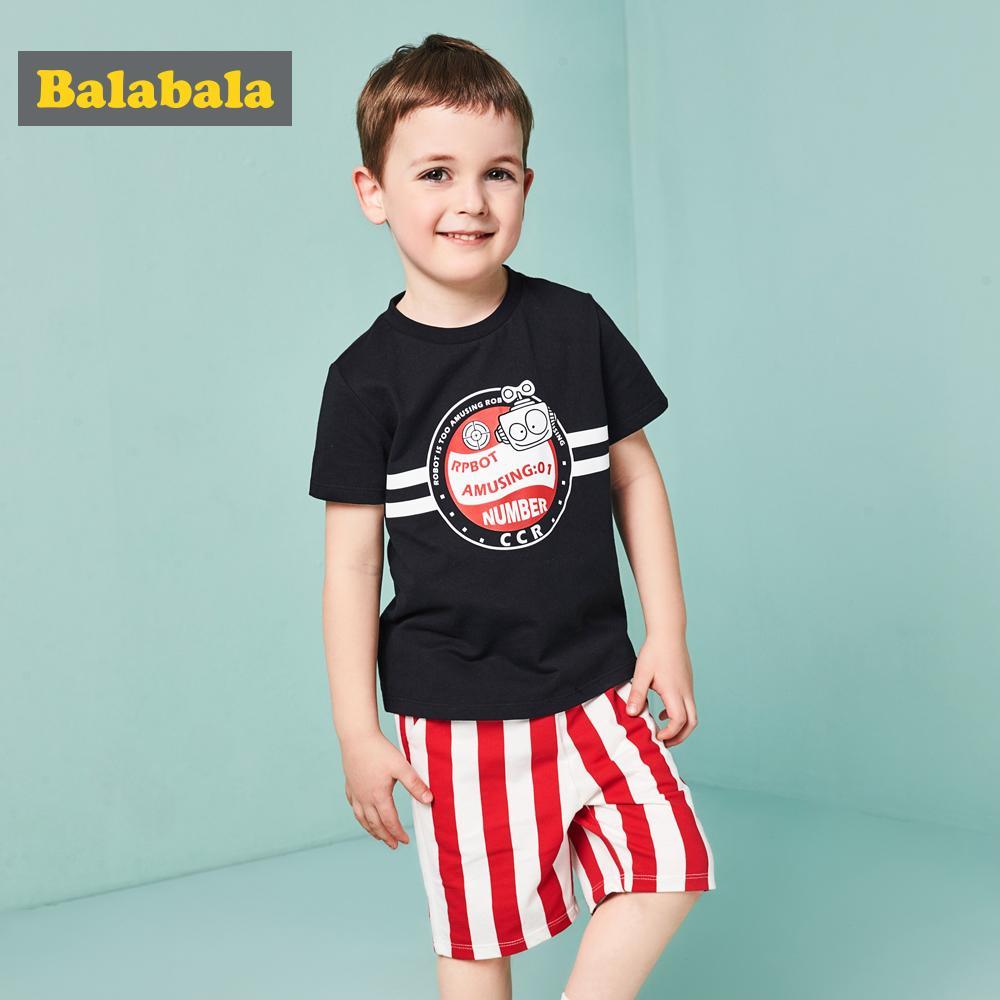fe94b62da2 2019 Balabala 2018 Summer Children Clothes Set Toddler Boys Fashion Shorts  Tracksuit Kids Clothing Costume Enfant Clothes Sets Y1893005 From  Shenping02