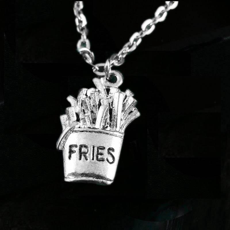 French Fry Collier français Fry Bijoux français Fry Pendentif français Fry Charme