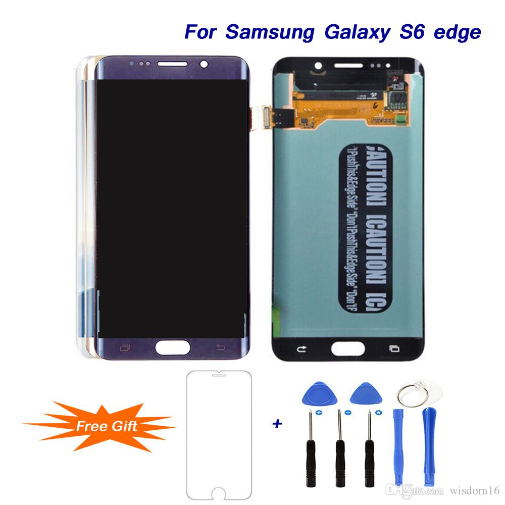 For SAMSUNG Galaxy S6 edge AMOLED LCD Replacement 5 1 Best Display LCD  Touch Screen Digitizer Assembly for SAMSUNG G920 G920F Repair Tools