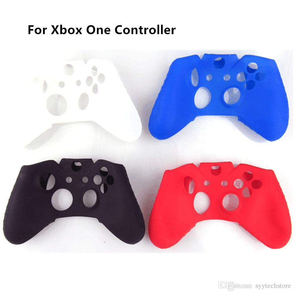 Free shipping Protective Soft Silicon Gel Rubber Cover Skin Case for Xbox One Controller Black, White, Blue, Red Color