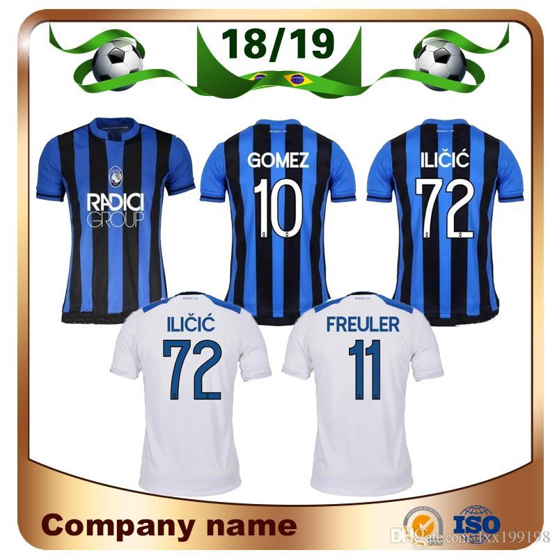 2019 Camiseta De Fútbol Atalanta BC18   19 Azul De Casa Camiseta De Fútbol  Atalanta VALZANIA FREULER GOMEZ DUVAN ILICIC Uniforme De Fútbol Por  Lxx199198 5a7bd046406ba