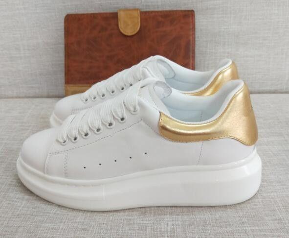 1c17ba19a23 Compre Novo Estilo De Qualidade Superior Modelo Rainha Sapatos Casuais  Venda Quente Marca De Luxo Homens E Mulheres Genuíno Couro Aumento Sapatos  De ...
