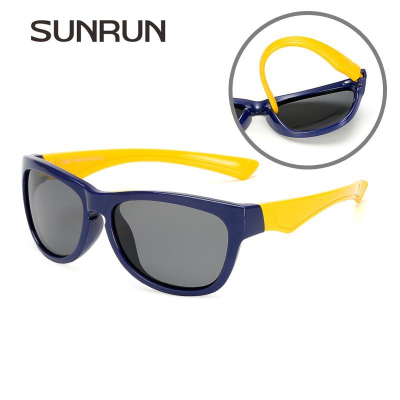 697490f2d Compre SUNRUN Crianças TR90 Quadro Óculos De Sol Polarizados Moda Meninos  Meninas Designer De Marca Óculos De Sol Crianças UV Proteção Óculos Atacado  De ...