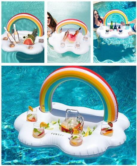 Inflatable Clouds Rainbow Drink Cup Holder Pool Floats Summer Cup Holder  Swim Ring Pool Toys Mini Piscina Inflatable Beer Holder Wedding Tokens For  Guests ...