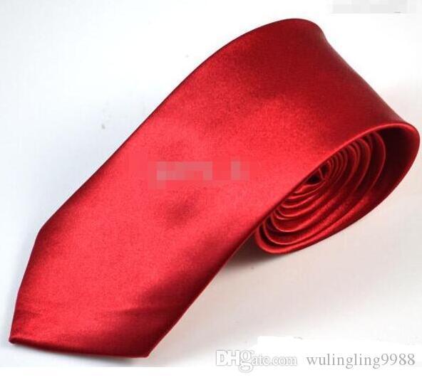 جديد وصول 7 سنتيمتر رجل ربطة العنق التعادل الأزياء الصلبة اللون العلاقات الزفاف الرجال اكسسوارات شحن مجاني