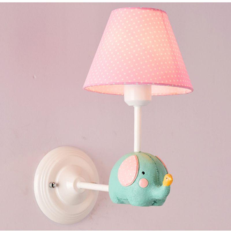 Großhandel Elefant Cartoon E27 Wandleuchte Wandlampen Unterputz Rosa ...