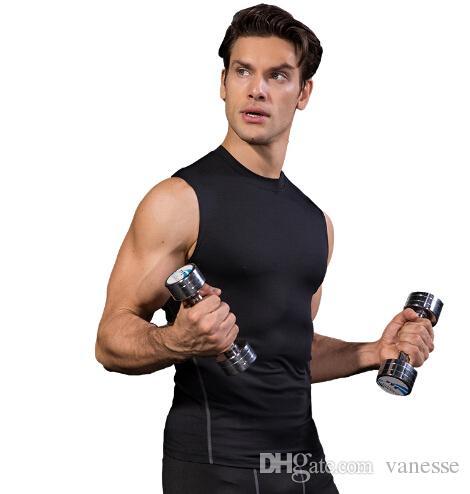 7164fcf7af2da Running Vest Training Quick Dry Workout Tank Top Fitness Tights Gym ...