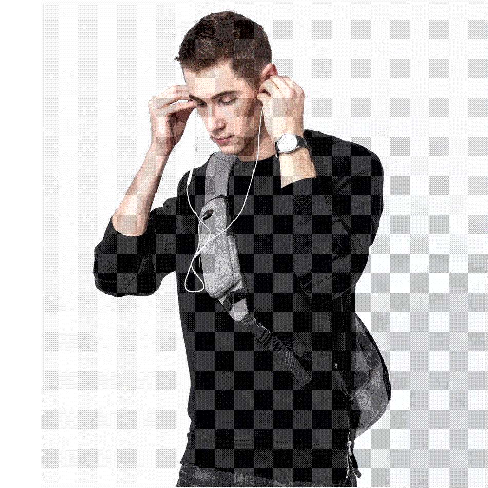KAKA 2018 New Arrival Male Shoulder Bags USB Charging Crossbody Bags Men  Anti Theft Chest Bag Summer Short Trip Messengers Bag Cheap Purses Handbags  For ... efcadf9560304