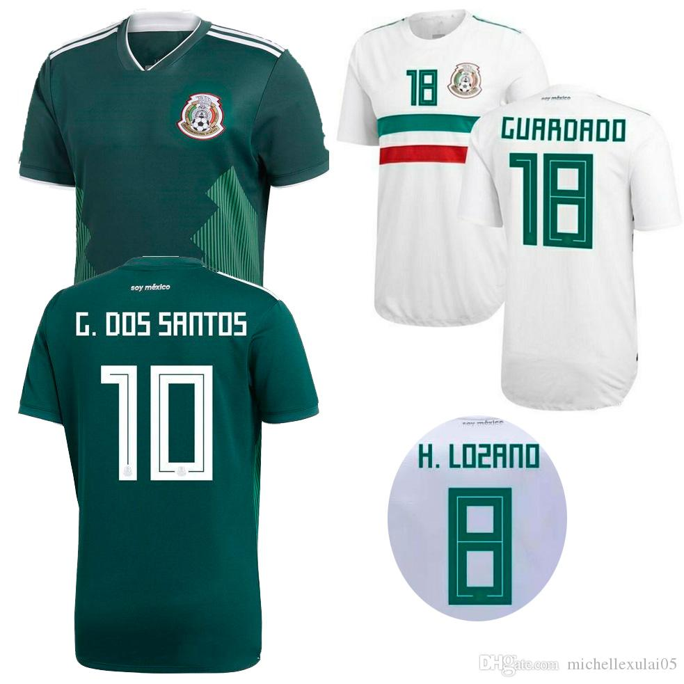 2018 Mexico Home Away Soccer Jerseys CHICHARITO LAYUN LOZANO DOS SANTOS  HERRERA Football Shirts Adult S Top Thai Quality Sports Wears Kits UK 2019  From ... 39cf3887020