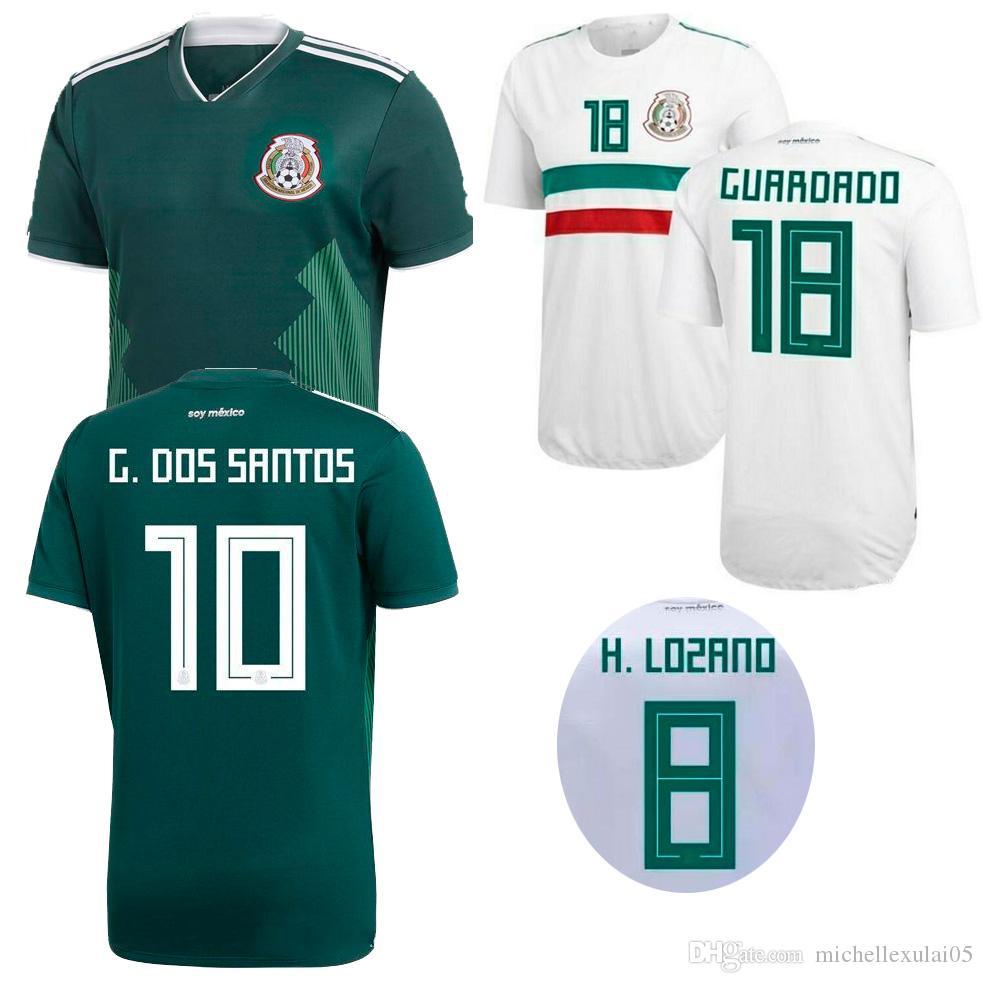 08eb6beb9 2018 Mexico Home Away Soccer Jerseys CHICHARITO LAYUN LOZANO DOS SANTOS  HERRERA Football Shirts Adult s Top Thai Quality Sports Wears Kits
