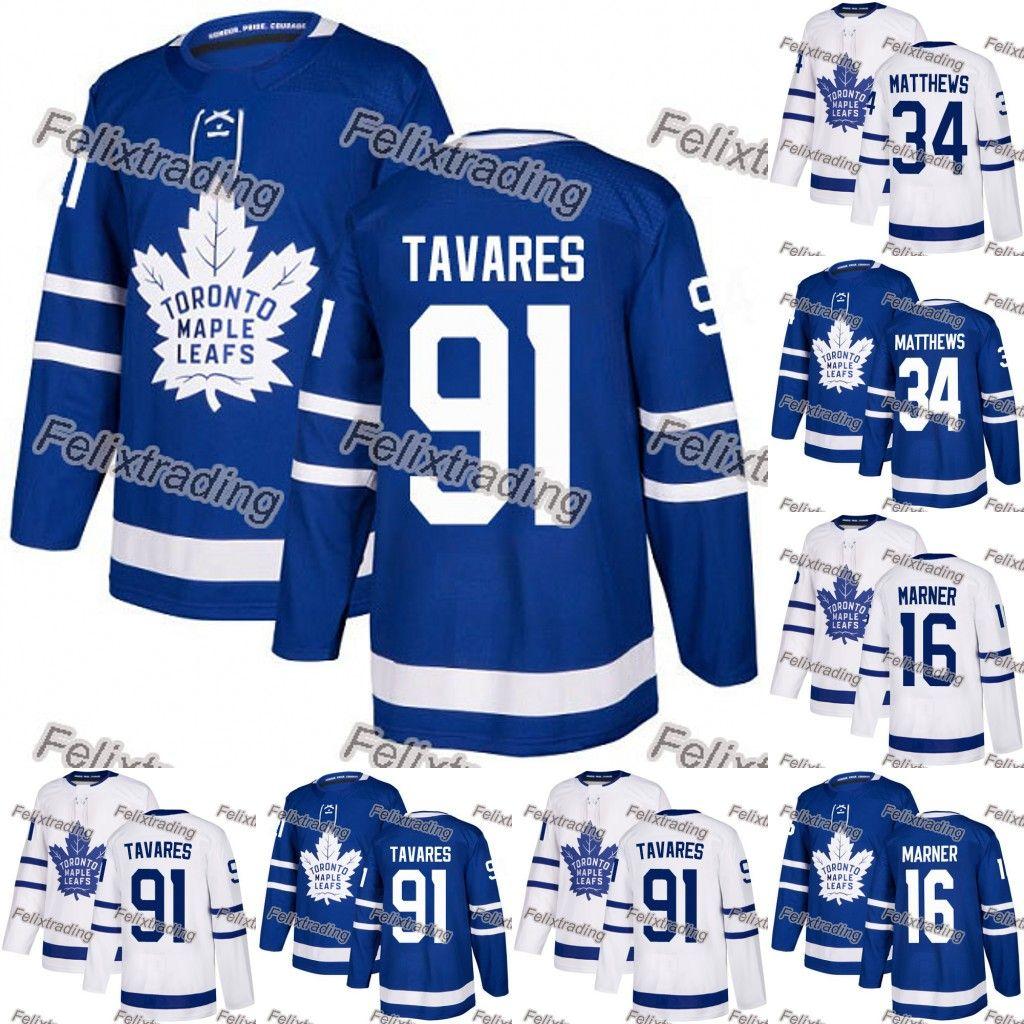 Wholesales Toronto Maple Leafs 91 John Tavares 34 Auston Matthews 16  Mitchell Marner Hockey Jerseys Men Women Youth Canada 2019 From  Felixtrading 702e52303b