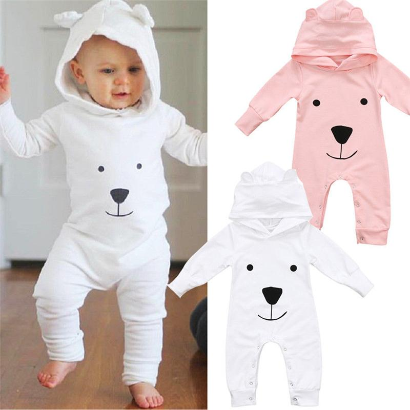 6cce51e3b Newborn Infant Baby Girl Boy Clothes Cute 3D Ear Hooded Romper ...