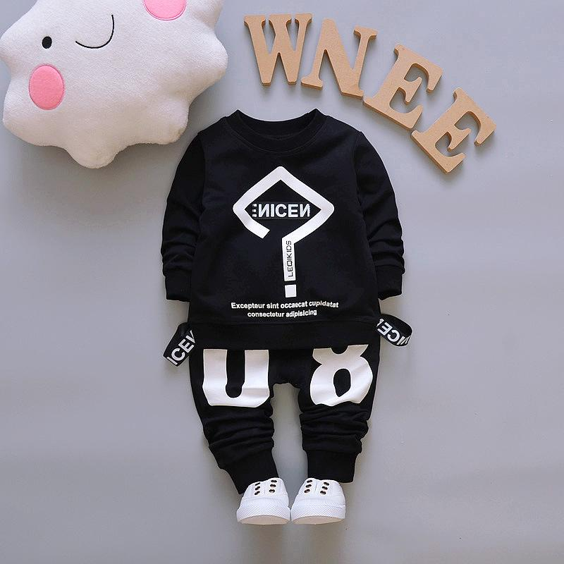 e79b7c2da90e 2018 New Autumn Baby Boy Clothing Set Long Sleeve Letter T Shirt + ...