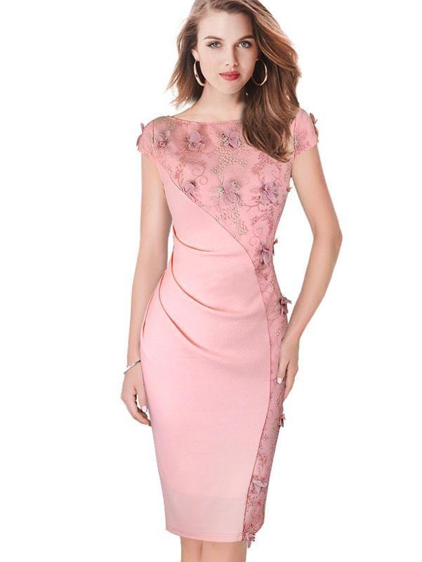 Embroidery Womens Dresses Slim Tunic Casual Bodycon Summer Vestidos