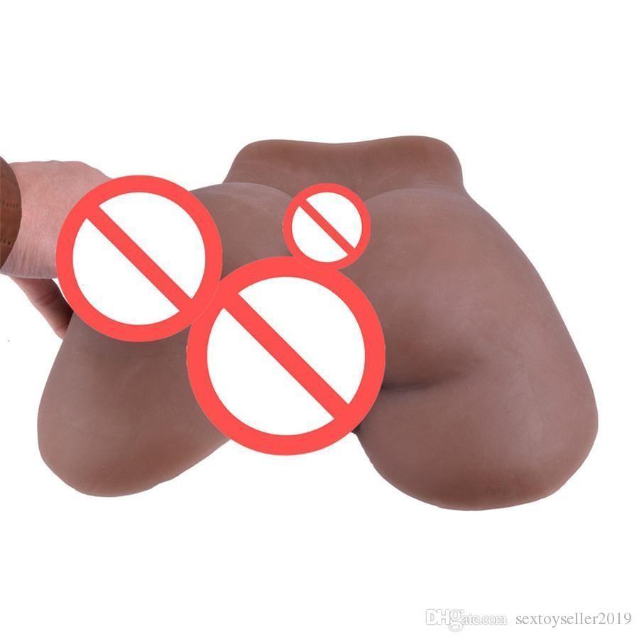 100% silicone reale nero grande culo vagina bambola del sesso pieno di silicone bambola anale maschio masturbatore giocattoli del sesso