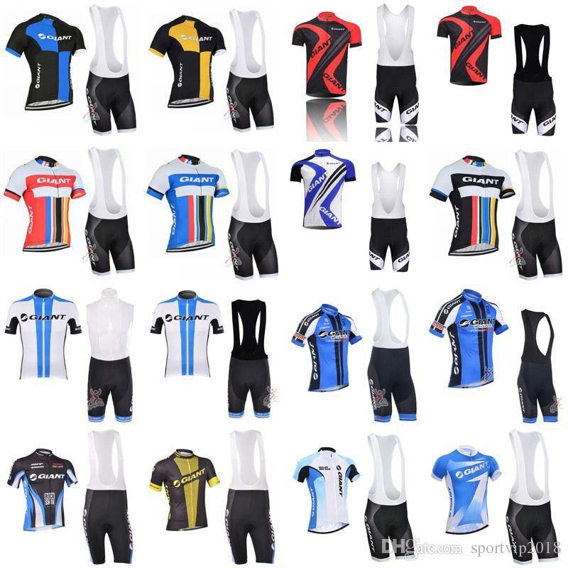 3cef8534 New Cycling Jersey 2018 GIANT Pro Team Cycling Clothing Men Summer quick  dry MTB Bike shirts Bicycle Cycling Bib shorts Set 3295