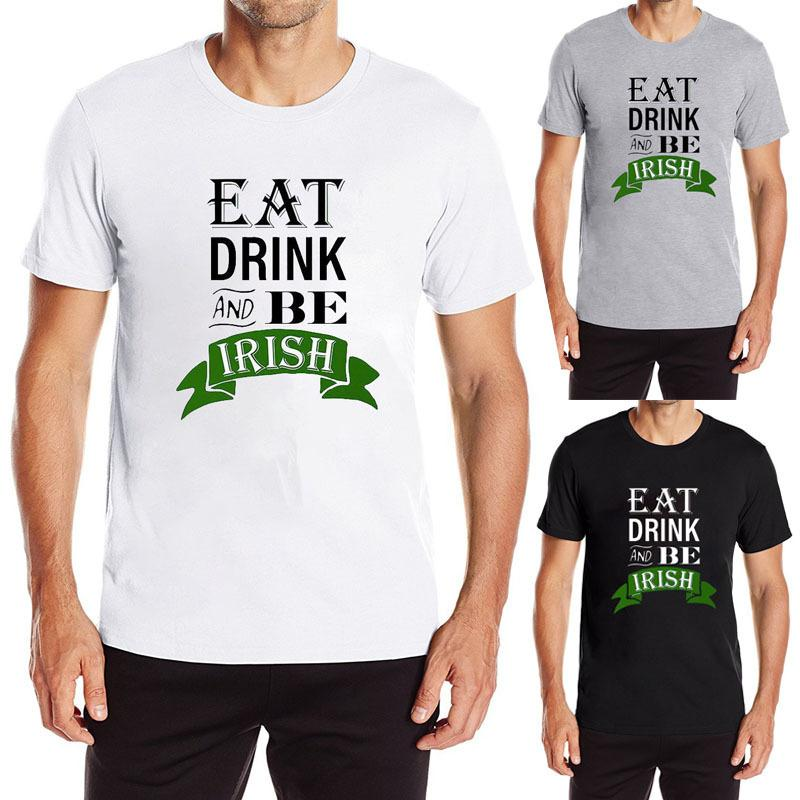 b5782838 St Patricks Day Eat Drink Cool Design T Shirt New Arrival Customized Men  Funny Printed Tops Plus Size Clothing Dropship Tee T Shirt Shopping Awesome  Tee ...