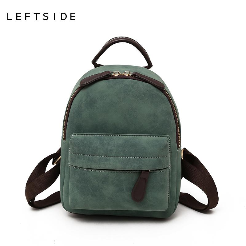 LEFTSIDE Women 2018 Mini Backpack Purse Cute Female PU Leather Back Pack  Small Backpacfor Teenagers Girls School Bags Black Waterproof Backpack Kids  ... 15396f9933a64