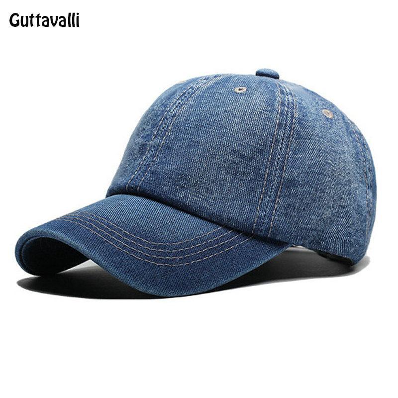 dde1727a Guttavalli Women Men Spring Jean Cap Summer Solid Cotton Baseball Hats Sun  Hats Girl Boy Denim Sunscreen And UV Protection Caps Caps Lids From  Shanqingmou, ...