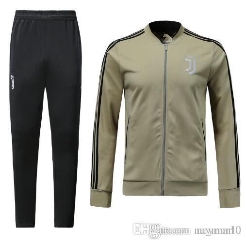 newest 21269 f0291 New Juventus Soccer jacket kit 2018-2019 Men juve Tracksuit DYBALA HIGUAIN  MANDZUKIC MATUIDI BUFFON Football training Zip jacket S-XL