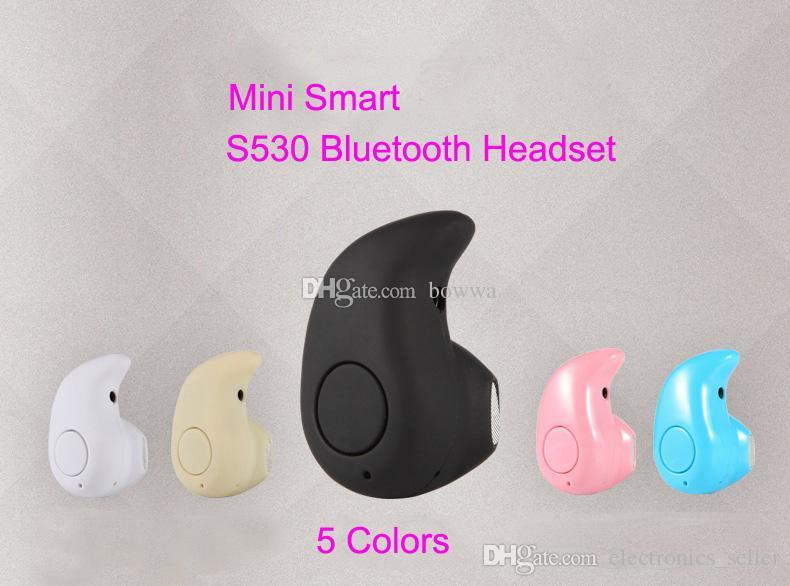 Hot S530 Super Mini + Musica leggera Cuffie Auricolare stereo Bluetooth stereo per iPhone Samsung Xiaomi Huawei 1pc