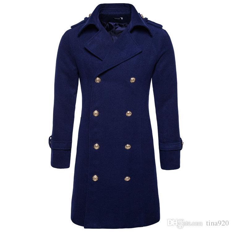 Jaycosin Mens Wool Warm Winter Trench Long Outwear Button Smart Overcoat Coats Waterproof Windproof Winter Jacket Men Back To Search Resultsmen's Clothing Wool & Blends