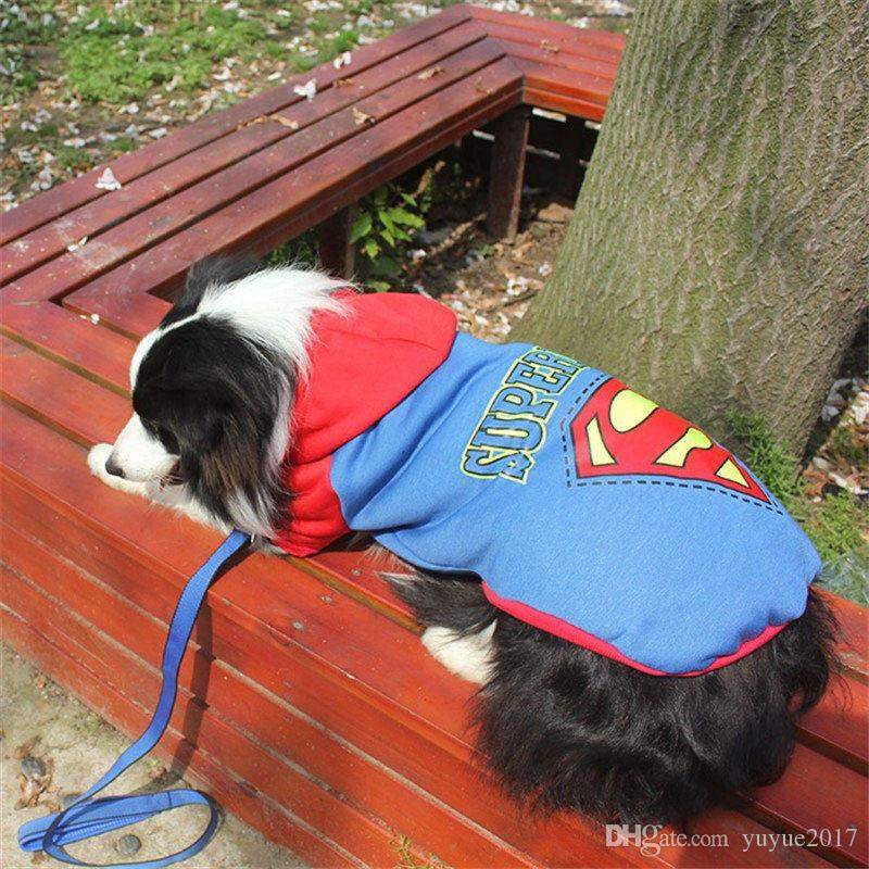 Hot Wholesale-Big Pet Dog Clothes Coat Hoodie Sweater Costumes Size XXL-9XL for Large Dogs