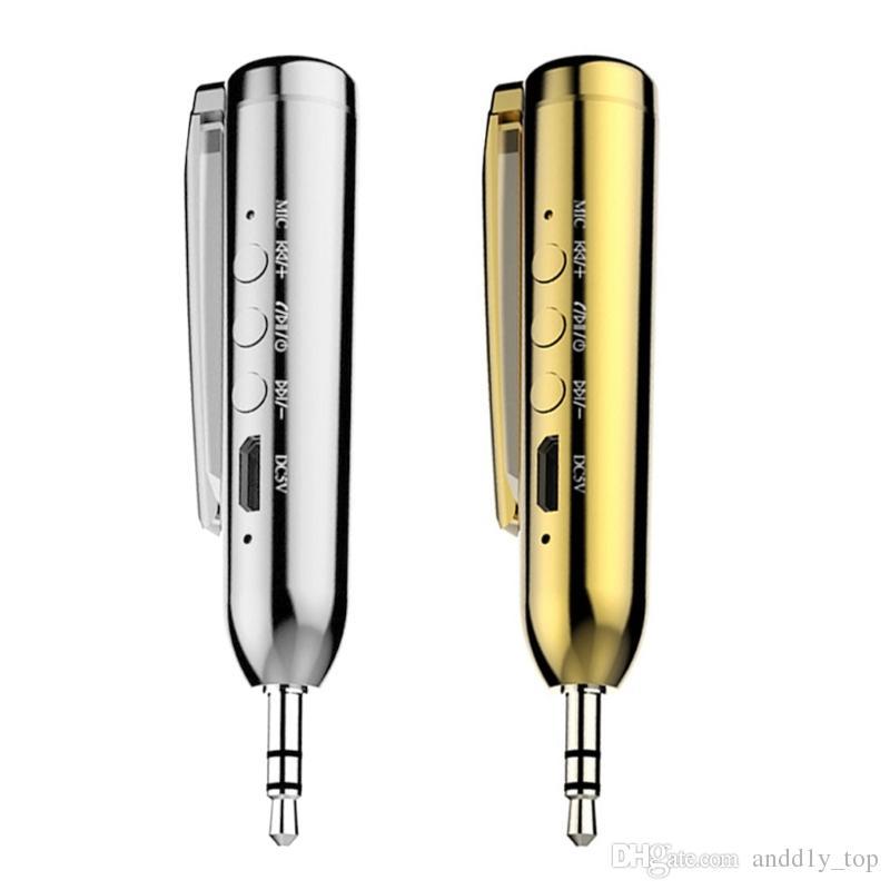 Mini kit voiture Bluetooth Audio AUX récepteur émetteur FM adaptateur mains libres avec pince jack 3.5mm pour iPhone 8 7 pour Samsung Note 8