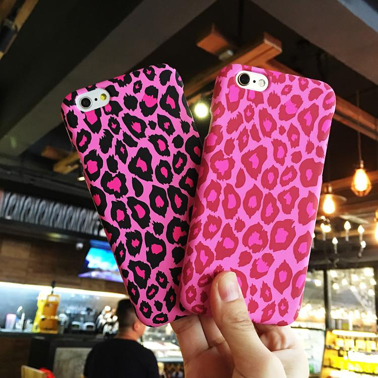 huge discount 72463 ebf93 Pink Leopard Case for Iphone 7 /7 Plus Matte Back Cover Cases 2in1 360 Full  Protect Luxury Phone Shell for Iphone7 /7plus Tempered Flim