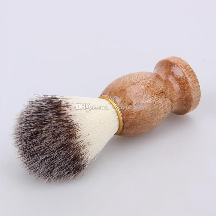 Hombres Brocha Afeitar Tejón Peluquería Peluquería Facial Barba Afeitadora Afeitadora Herramienta Limpiador Cepillo Razor Mango de Madera Envío Gratis