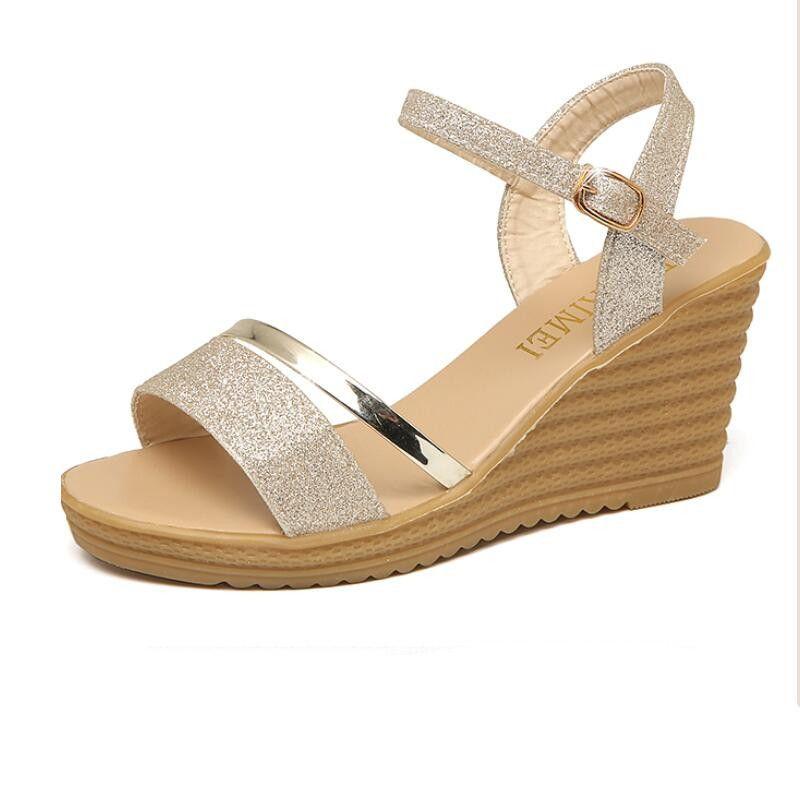880ea0a05 Compre Sandalias Mulheres Gladiador Saltos Cunhas Sapatos Para ...