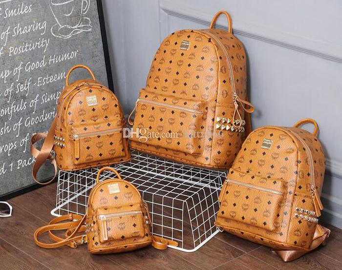 a957be3e9b Brand New Fashion Punk Rivet Backpack School Bag Unisex Backpack ...