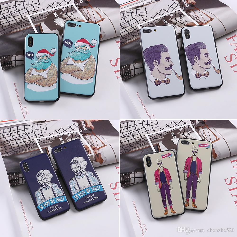 386012ab0c34 Hipster Sunglasses Boy Fashion Phone Cases For Iphone 5s 6 6s 6Plus 7 7s  7plus 8 8Plus X Soft Phone Cover Phone Shell Cell Phone Case Covers  Uncommon Cell ...