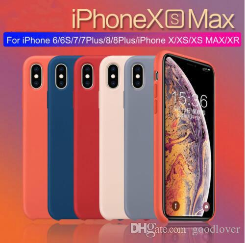 Original Official Style Silicone Case For iphone XS MAX XR X Cases For apple For iPhone 7 8 6S Plus Retail Cover case