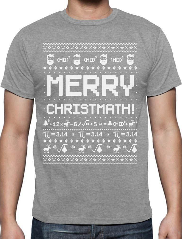 Merry Christmath Funny Math Ugly Christmas Sweater T Shirt Gift Idea ...