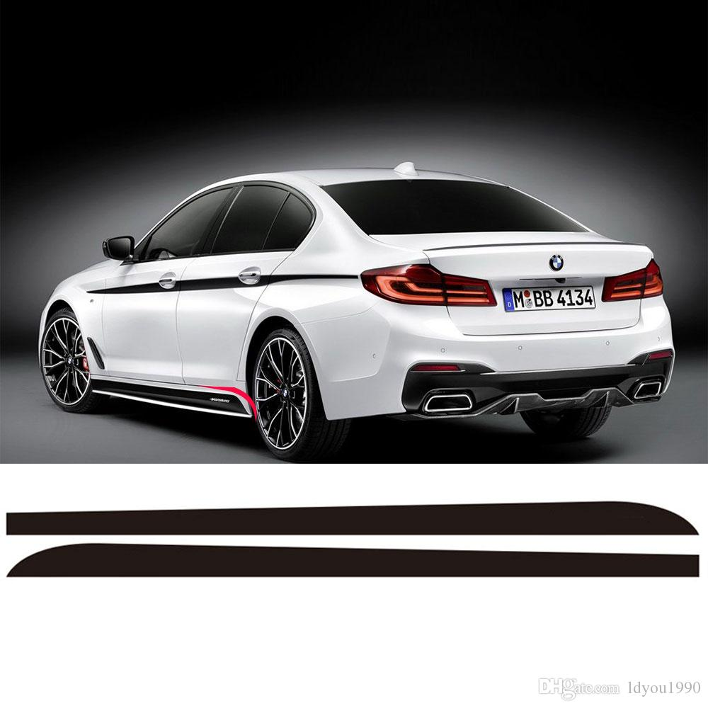 Side Skirt Sill Racing Stripe Vinyl Sticker Side Decals For BMW G30 5 Series 2017 2018