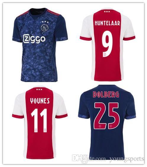 finest selection c3009 7bcb1 New Home Soccer Jerseys 2017 2018 Ajax FC Red Away Blue Camiseta de futbol  KLAASSEN FISCHEA DOLBERG 17/18 Football Shirts Customized uniform