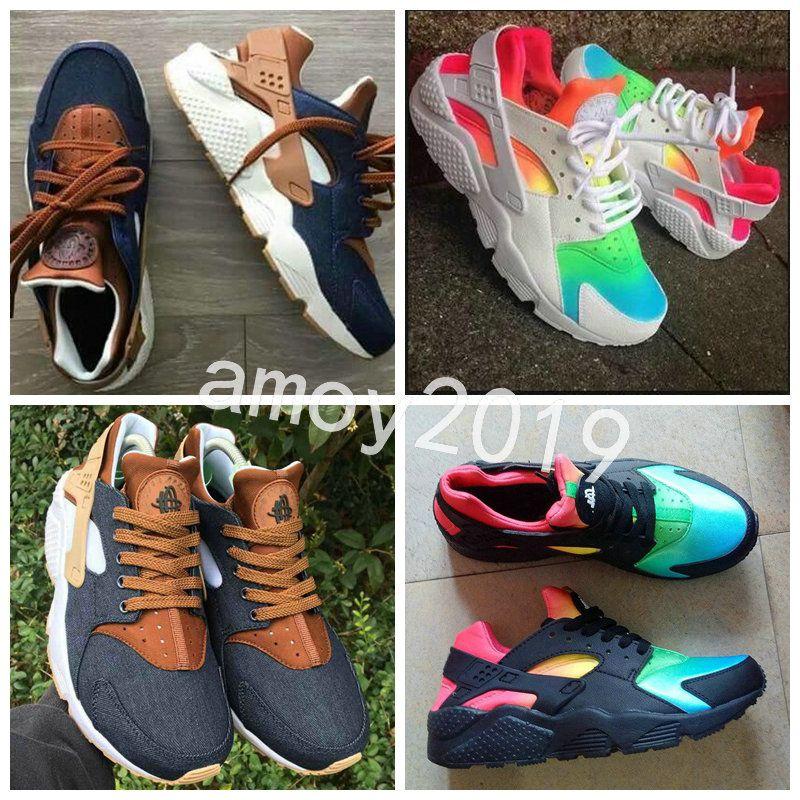 7ac4f8aeaa New Air Huarache 2018 Breathe Running Shoes Men Women Hurache navy blue ten  Huaraches Multicolor Huraches Mens Trainers Harache Sneakers