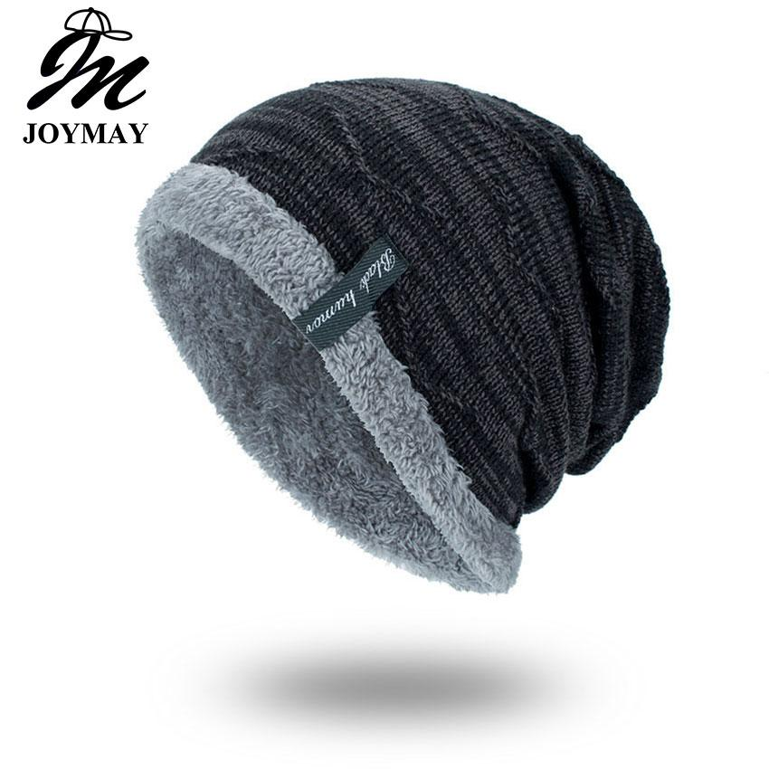 524534789f2 Joymay 2018 Winter Beanies Solid Color Hat Unisex Plain Warm Soft Skullies  Knitting Cap Hats Touca Gorro Cap For Men Women WM059 Skullies Knitting Cap  ...