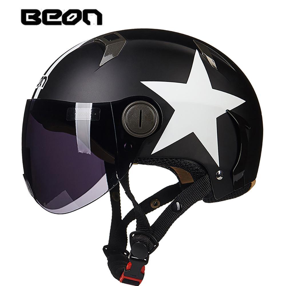 Beon motorcycle helmet vintage chopper half open face helmet moto casco motocross scooter retro motorbike motorcycle helmet stickers motorcycle helmet visor