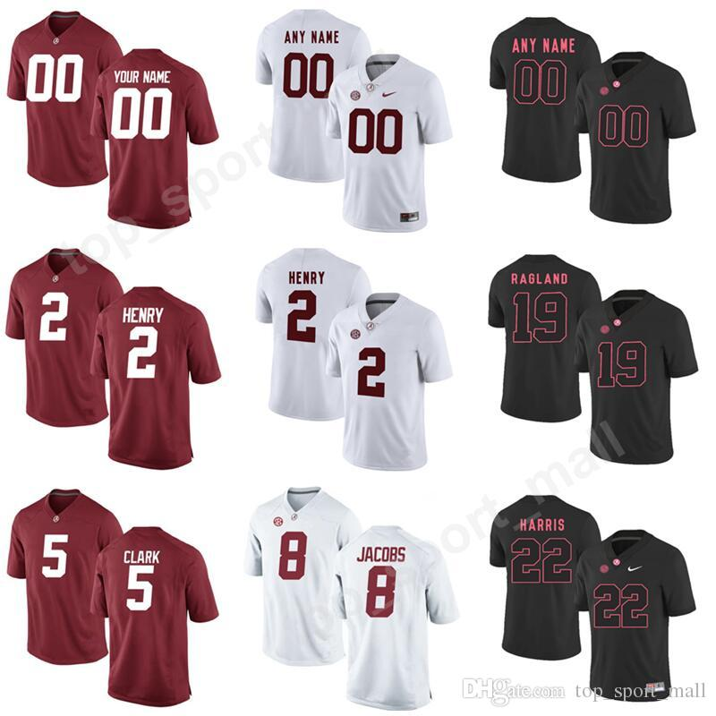 2c466f4b1 2019 Youth Men 4 Jerry Jeudy Jersey Alabama Crimson Tide 5 Ronnie Clark 8  Josh Jacobs 2 Derrick Henry Make Custom Personalized Red White Black From  ...