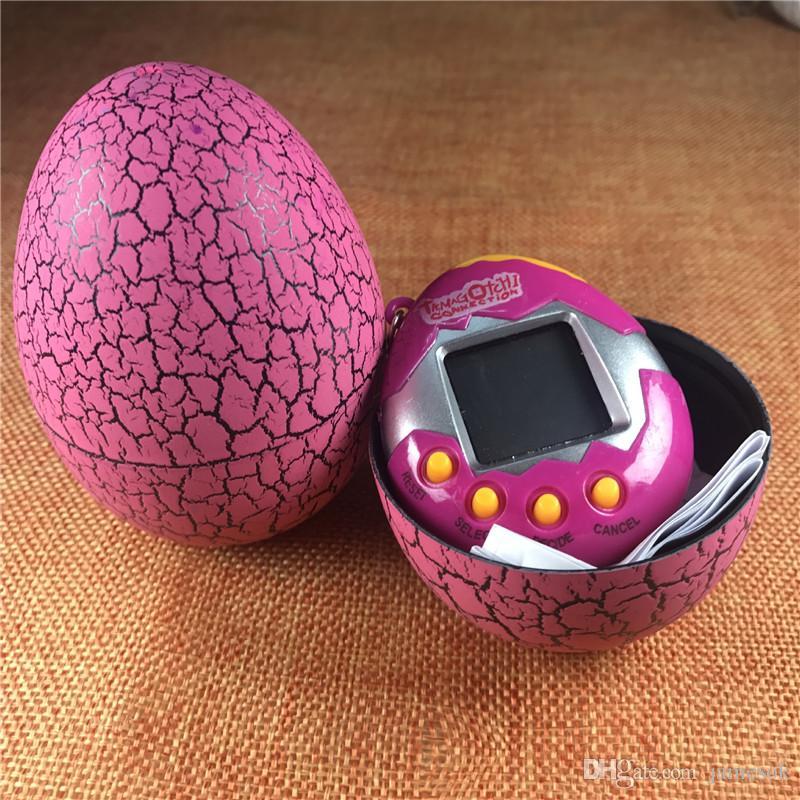Novo Eletrônico Animais De Estimação Ovo de Dinossauro Brinquedos Interativos Para Crianças Tamagotchi Tumbler Virtual Cyber Digital E-pet Handheld Game to373